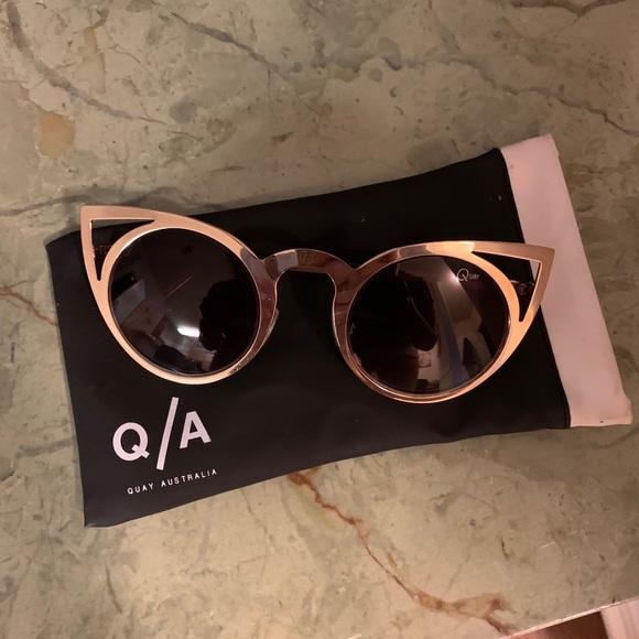 Quay Australia gold cat eye sunglasses